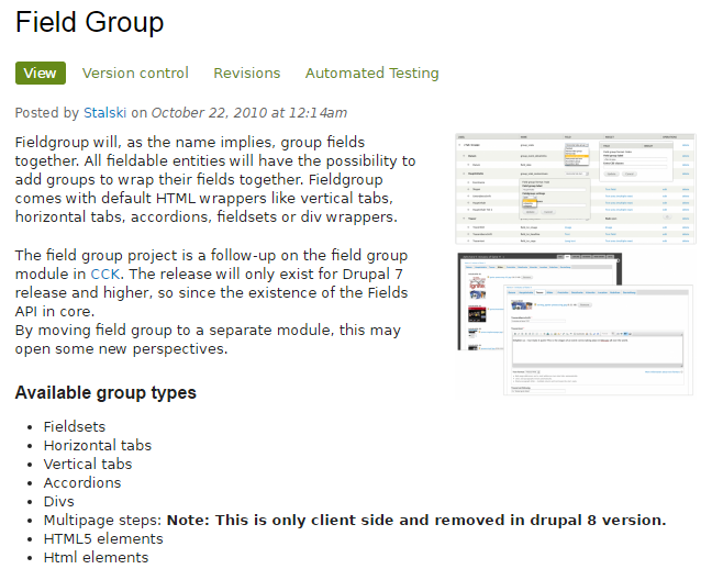 Drupal Field Group